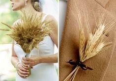 bouquet de mariée de blé - les mariages de style champêtre sont une tendance absolue