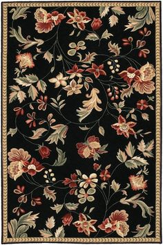 Buy the Surya Black Direct. Shop for the Surya Black Flor x Rectangle Wool Hand Hooked Floral Area Rug and save. Tapete Floral, Flor Rug, Transitional Area Rugs, Floral Area Rugs, Area Rug Runners, Round Area Rugs, Motif Floral, Textile Patterns, Wool Area Rugs