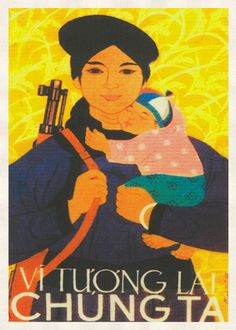 North Vietnamese women were enlisted and fought in the combat zone and provided manual labor to keep the Ho Chi Minh trail open. They also worked in the rice fields in North Vietnam and Viet Cong-held farming areas in South Vietnam's Mekong Delta region to provide food for their families and the communist war effort.  #Propaganda #Poster available in S&L sizes.