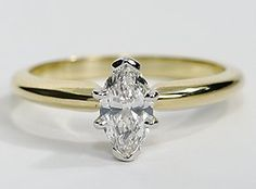 This classic six-prong 18k gold setting is designed to elegantly complement your choice of center diamond. #BlueNile #PinItForwardUK