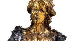 Die Terrakottabüste von Lucio Fontana war 450.000 Euro (160.000/220.000) wert; von 1949, 49,6 Zentimeter hoch.