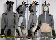 Here's a cool custom Hyena hoodie we made! You can order your very own custom hoodie here: http://www.lemonbrat.com/customs/