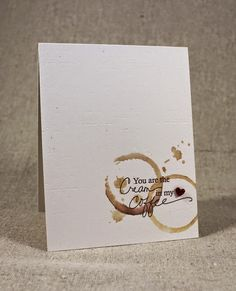 Cream In My Coffee Card by Lizzie Jones for Papertrey Ink (December 2014)