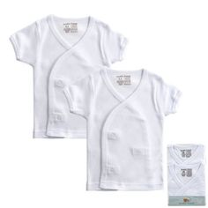 2Pack Short Sleeve Side Snap Shirts White Newborn * To view further for this item, visit the image link. (This is an affiliate link) #BabyBoyTops