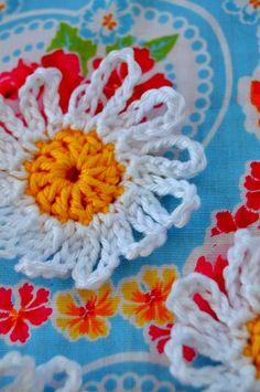 Madeliefjes bloem patroon - Daisy flower pattern.