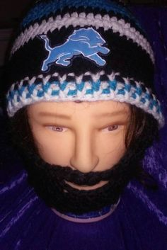 Check out this item in my Etsy shop https://www.etsy.com/listing/222804039/detroit-lions-bearded-beanie-lions