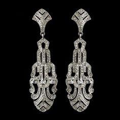 Elegance By Carbonneau Great Gatsby Look Art Deco Wedding Earrings 16% off retail
