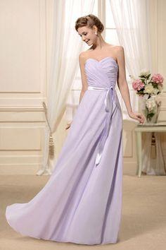 A Line Sweetheart Sleeveless Floor Length Chiffon Ruffles Zipper Up - promgoers.com