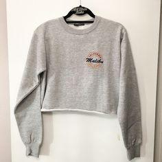 """NWOT Malibu Nancy cropped sweatshirt 19"""" in length Brandy Melville Tops Tees - Long Sleeve"""
