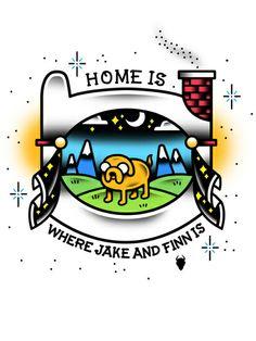 Adventure Time Tattoo Flash  Art Print