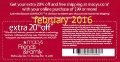 Macy's Coupons Ends of Coupon Promo Codes JUNE 2020 ! Looking for Macy's coupon and promotional code? Goodshop's coupon specialists re. Free Printable Coupons, Free Printables, Dollar General Couponing, Jcpenney Coupons, Coupons For Boyfriend, Grocery Coupons, Mcdonalds Coupons, Pizza Coupons, Love Coupons