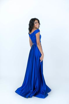 322e9a74697 Sherri Hill Royal Blue Flowy Dress Ypsilon Dresses Prom Pageant Evening Gown  Special Occasion Homecoming Sweethearts