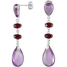 Amethyst & Garnet Earrings #TreatYourself