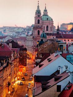 Evening Pastel Colors Make the City Beautiful - Prague - The Czech Republic Destination: the World...