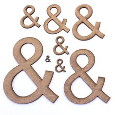 Ampersand '&' Sign Symbol. Craft Shapes, Embellishments, Decorations, 2mm MDF in Crafts, Woodworking | eBay