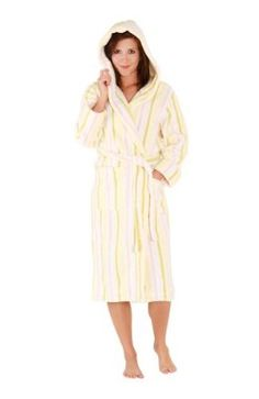 Del Rossa Women s Water Absorbant 14 oz Fleece Hooded Bathrobe Robe 11dd2a7ae