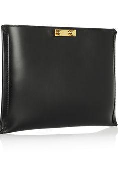 Marni Leather clutch NET-A-PORTER.COM