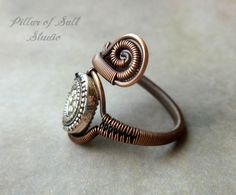 Wire Wrapped Ring / mixed metal jewelry / by PillarOfSaltStudio
