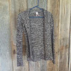 Hooded Derek Heart sweater Brown double-button sweater. Great condition. 100% acrylic. Derek Heart Sweaters