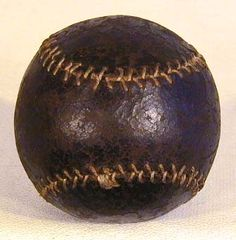 A well preserved baseball from the 1870s.