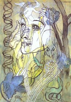 Ridens, Gouache by Francis Picabia (1879-1953, France)