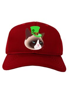TooLoud Leprechaun Disgruntled Cat Adult Dark Baseball Cap Hat