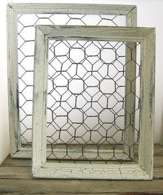 Back Bay Pottery: Make a Shabby Chic Chicken Wire Frame - for my postcards from Postcrossing?