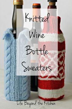 Wine Bottle Sweaters To Knit via @lydiafilgueras
