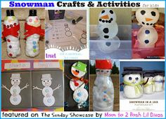 Mom to 2 Posh Lil Divas: Snowman Crafts and Activities {The Sunday Showcase 12/7/13}
