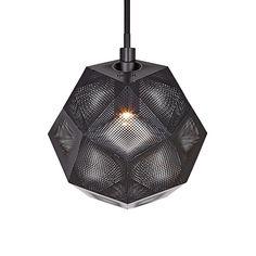 ETCH Geometric Punched Steel Black Ceiling Pendant from UK lighting designer, Tom Dixon. Pendant Lighting, Light, Lighting Ceiling Lamp, Black Ceiling, Pendant Lamp, Mini Pendant Lights, Ceiling Pendant, Lights, Mini Pendant