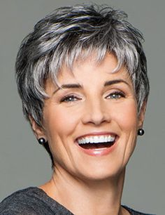 Incentive by Eva Gabor Wigs - Lace Front, Hand Tied, Monofilament Wig - Aktuelle Damen Frisuren Short Pixie Haircuts, Short Hairstyles For Women, Wig Hairstyles, Hairstyles 2016, Black Hairstyles, Long Haircuts, Modern Hairstyles, Hairstyles For Over 60, Vintage Hairstyles