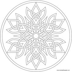 Mandala coloring pages - Another Swirly Mandala to print and color – Mandala coloring pages Mandala Coloring Pages, Coloring Book Pages, Printable Coloring Pages, Celtic Patterns, Celtic Designs, Knitting Patterns, Celtic Art, Celtic Mandala, Geometric Tattoos