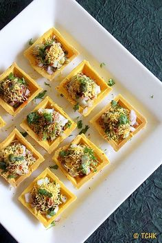 Canapes Recipes, Snack Recipes, Cooking Recipes, Appetizer Recipes, Party Appetizers, Veg Recipes, Indian Appetizers, Indian Snacks, Tapas