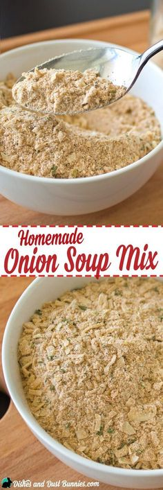 Homemade Onion Soup Mix from dishesanddustbunnies.com