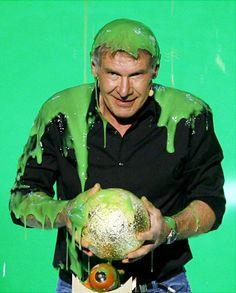 Harrison Ford Slimed ►KCAs 2008
