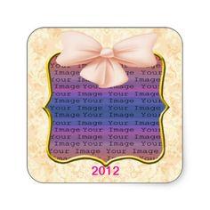 Pink Bow Wedding Stickers #weddings