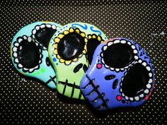 Items similar to Sugar Skull Magnets 3X on Etsy