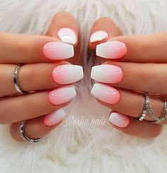 Best Ombre Nails Art Designs and Ideas For 2019 These trendy Nails ideas would gain you amazing compliments. Check out our gallery for more ideas these are trendy this year. Coral Ombre Nails, Nails Yellow, Pink Nails, Gel Nails, How To Ombre Nails, Ombre Nail Art, Nail Polish, Ombre Nail Designs, Acrylic Nail Designs
