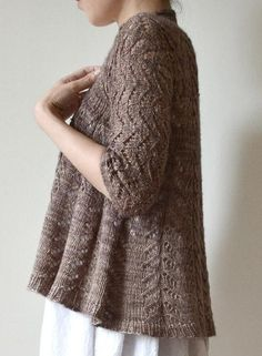 Gorgeous lace cardigan from Hiroko Fukatsu - find it on LoveKnitting