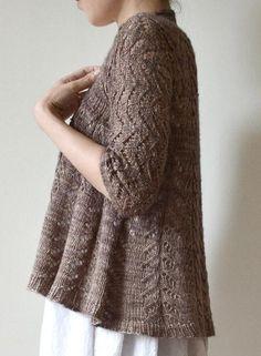 Gorgeous lace cardigan from Hiroko Fukatsu - find it on LoveKnitting