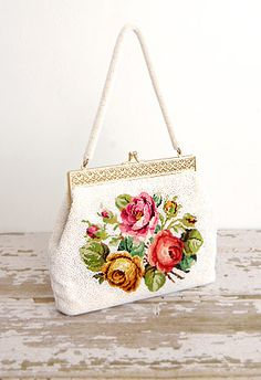 Persimmon Rose Bag - so shabby chic