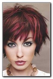 New Hair Red Highlights Brows Ideas Funky Short Hair, Short Hair Cuts, Short Hair Styles, Short Razor Haircuts, Short Choppy Hair, Short Shag, Sassy Hair, Curly Hair, Hair Color For Women