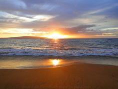 Poolenalena Beach sunset.  Where we got 'Maui'd' in 2008~