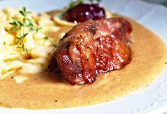 Recept : Krůtí stehna nadivoko | ReceptyOnLine.cz - kuchařka, recepty a inspirace Hummus, Meat, Chicken, Food, Essen, Meals, Yemek, Eten, Cubs