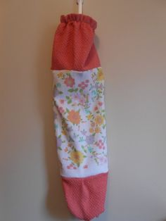 Plastic Grocery Bag  Shopping Bag  Flowers  by CrochetandOrnaments