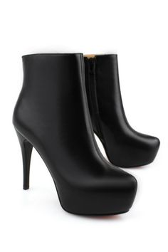 Chic Black Stiletto Heel Ankle Boots OASAP.com