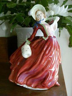 Vintage Royal Doulton Autumn Breezes HN1934 Bone China Lady Figurine MINT   eBay