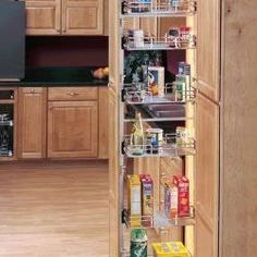 Rev A Shelf 5273-14-GS 6 Shelf Glass Pantry Kitchen Organization Pantry, Kitchen Pantry, Kitchen Storage, Kitchen Dining, Kitchen Cabinets, Kitchen Appliances, Rev A Shelf, Basement Storage, Home Kitchens
