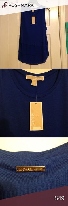 NWT Michael Kors Royal top size M NWT MK Royal top. Size M. Retails for $70. Smoke free home. No trades. Open to reasonable offers. Michael Kors Tops