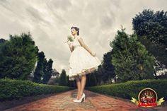 Vintage Wedding -- more here ---▶ http://pinup-fashion.com/4295/dream-retro-wedding-collection/ #wedding #lace, #vintage, #weddingdress